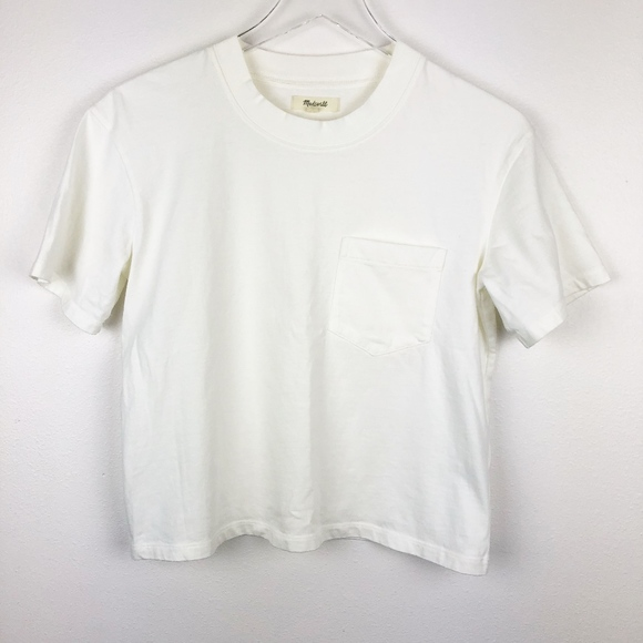 fb91f2251e22 Madewell Tops - Madewell Easy Crop Tee XS Off-white